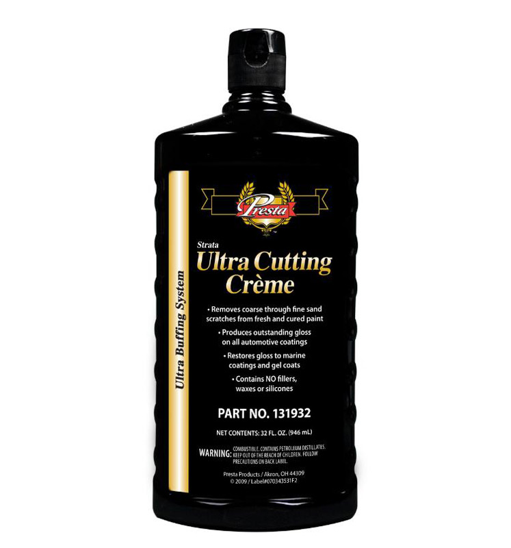 Ultra Cutting Creme presta 131932 compound and detailing auto restoration car paint
