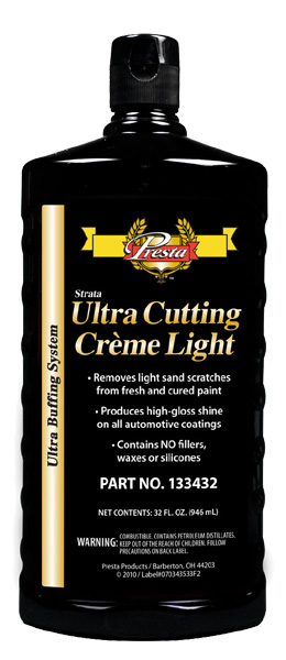Ultra Cutting Creme Light presta 133432 compound and detailing auto restoration car paint