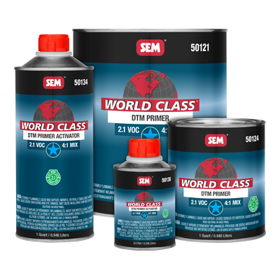 DTM Primer World Class™ sem 50124/50136 2.1 VOC compliant, two-component epoxy restoration auto paint