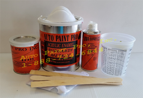 Burgandy Metalic acrylic enamel single stage auto paint restoration kit supplies