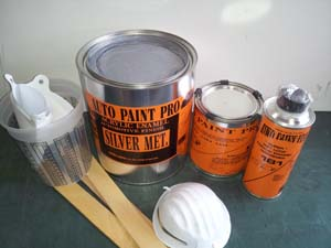 Acrylic Enamel Silver Metalic Kit restoration car paint