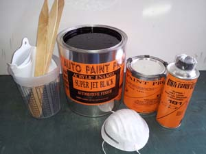 Acrylic Enamel Super Jet Black Kit restoration car paint