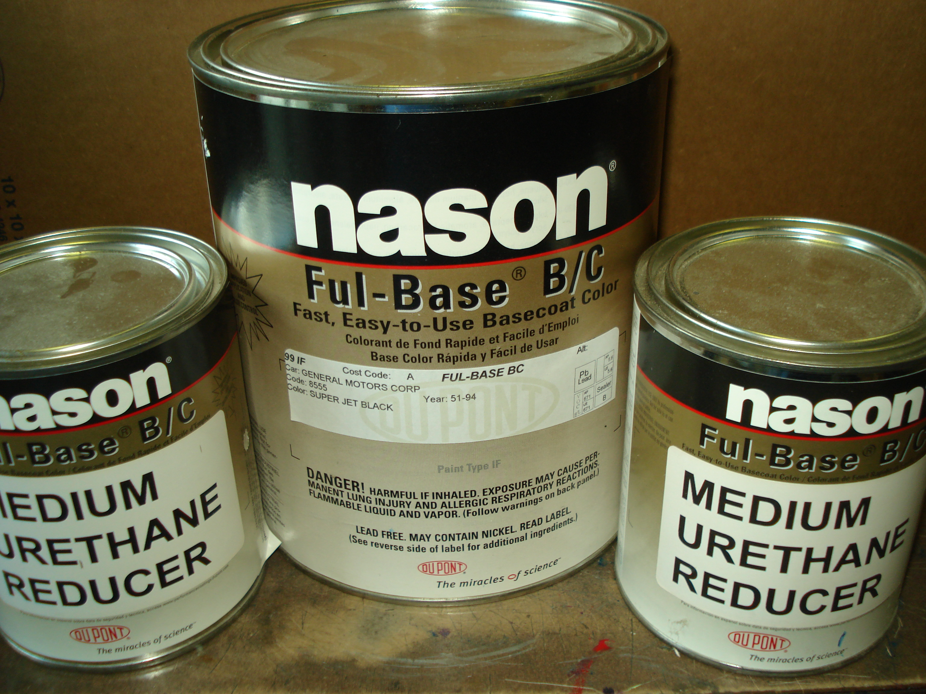 Dupont / Nason Urethane Full Base Super Jet Black