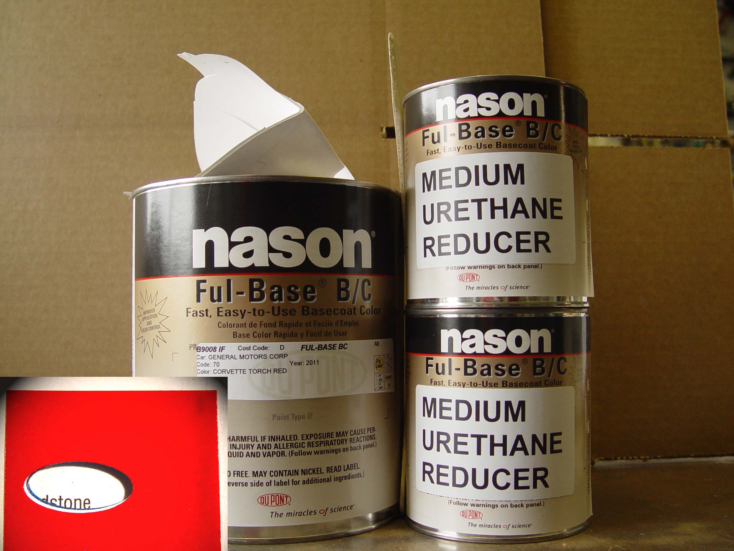 Dupont / Nason Urethane Full Base Torch Red