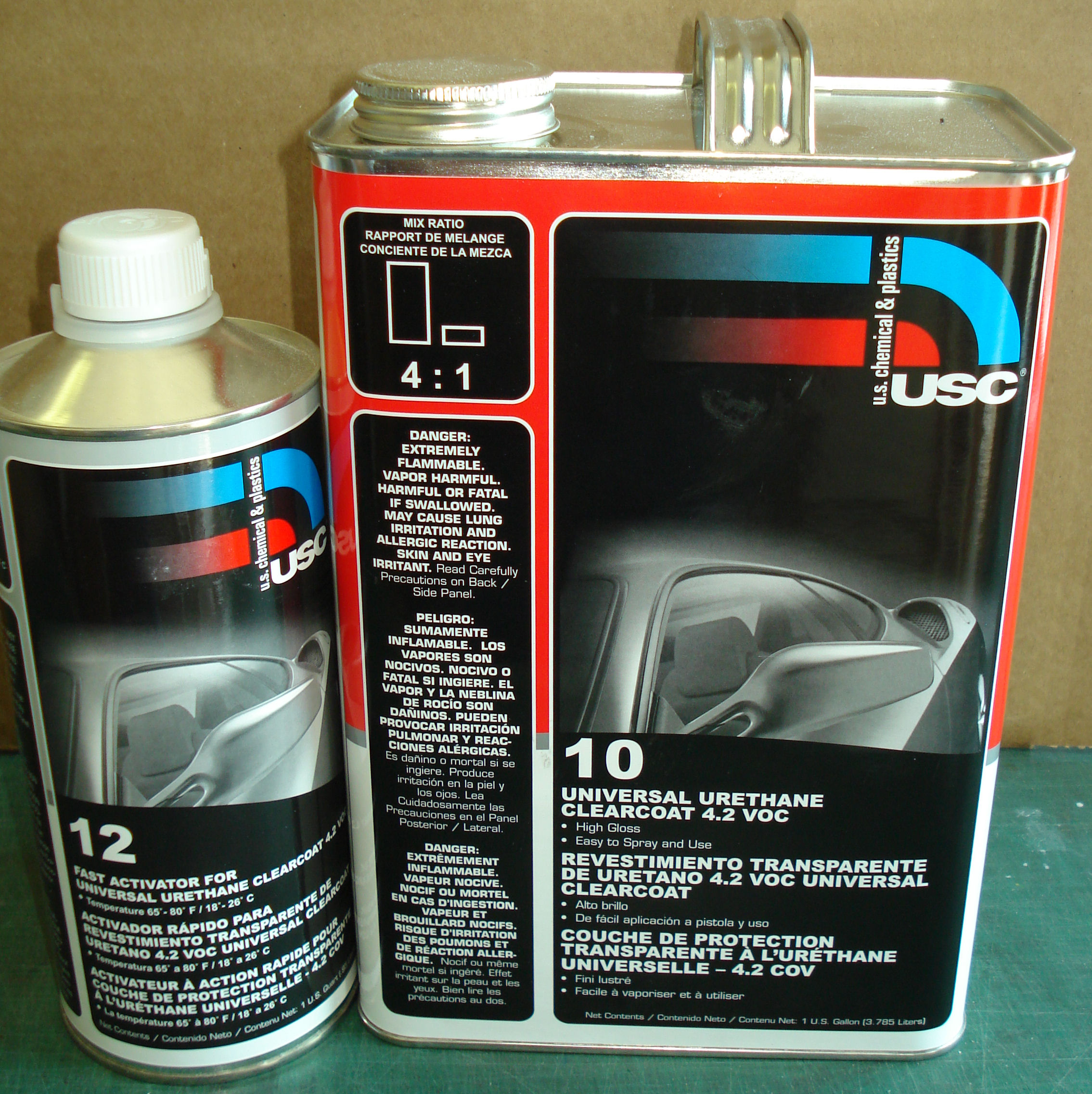 USC 10 Universal Urethane Clear Coat 4.2 VOC Kit